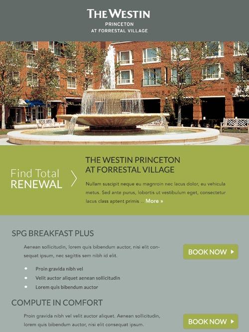 Hotel Email Design - The Westin Princeton at Forrestal Village