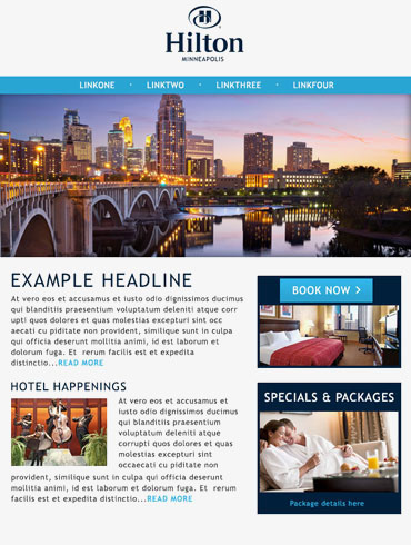 Hotel Email Design - Hilton, Minneapolis