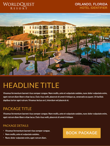 Hotel Email Design - Worldquest Resort, Orlando