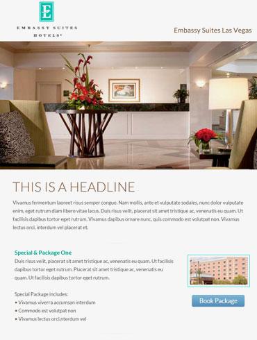 Hotel Email Design - Embassy Suites, Las Vegas