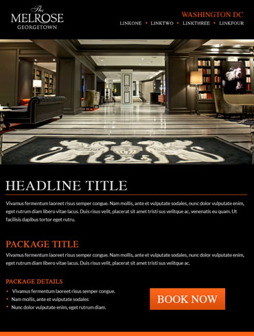 Hotel Email Design - The Melrose Georgetown, Washington DC