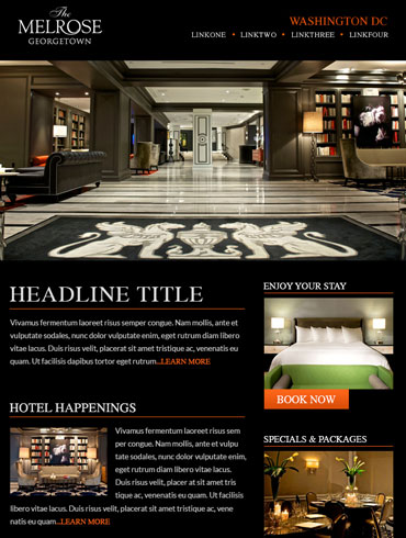 Hotel Newsletter Email Design - The Melrose Georgetown, Washington DC