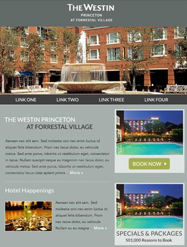 Hotel Newsletter Email Design - The Westin Princeton at Forrestal Village